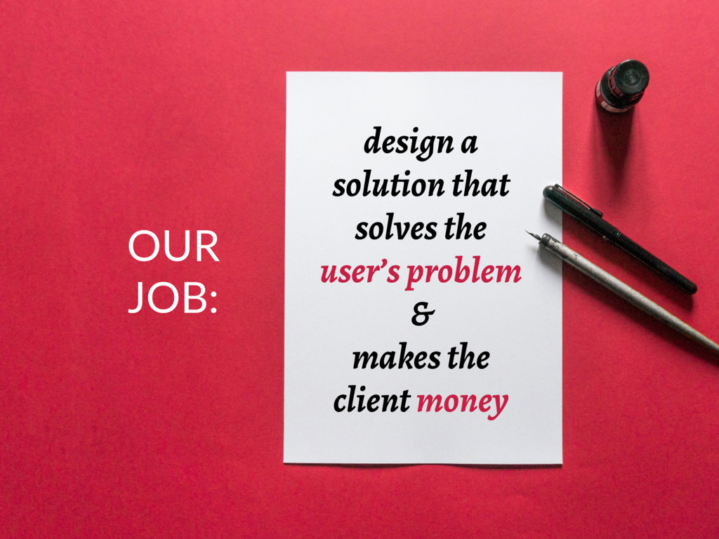 design a solution that solves the user's proble...
