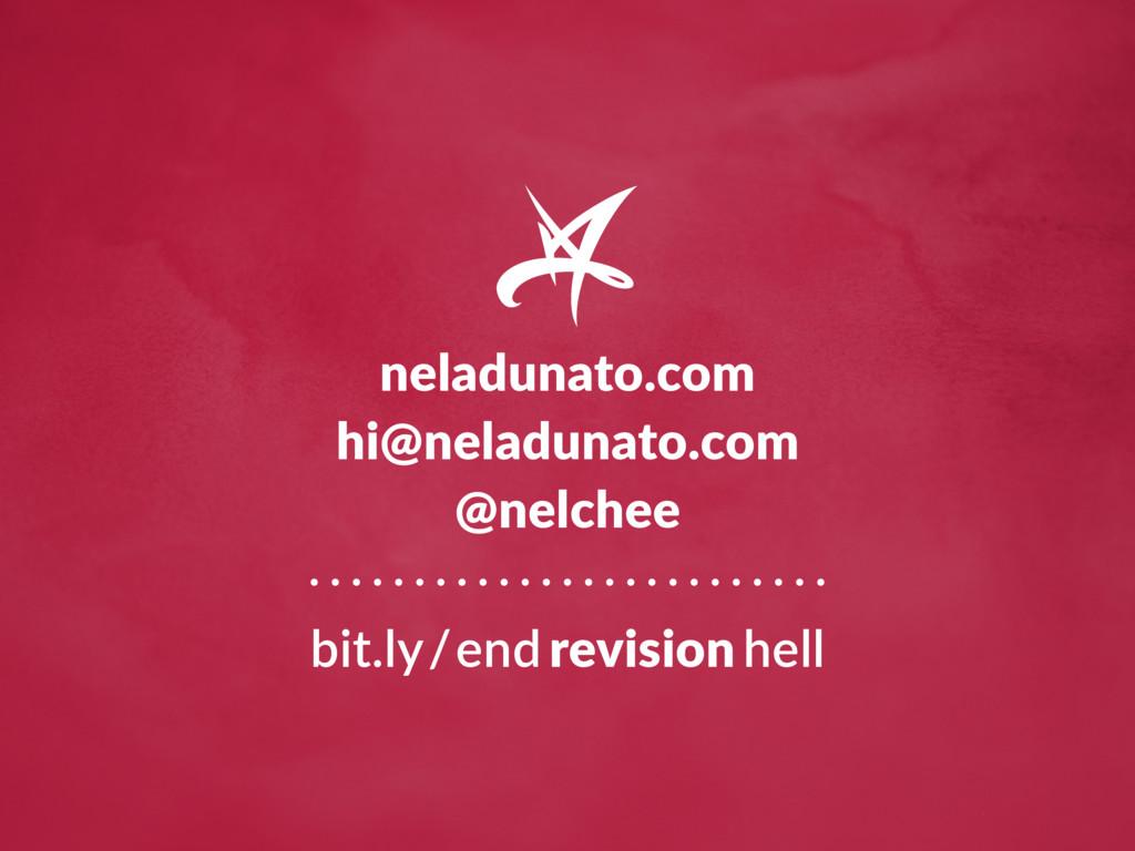 neladunato.com hi@neladunato.com @nelchee bit.l...
