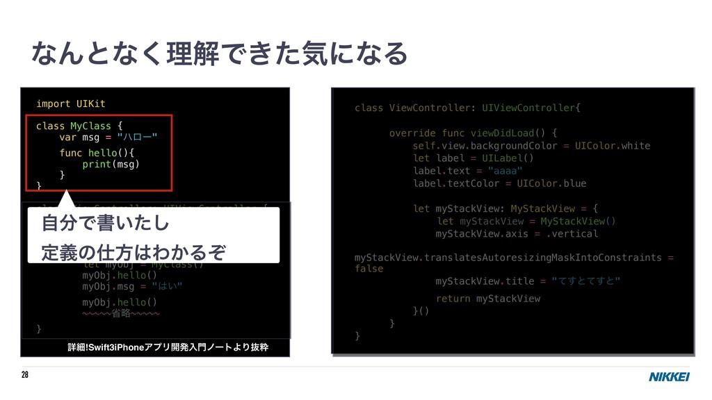 "28 import UIKit class MyClass { var msg = ""ϋϩʔ""..."
