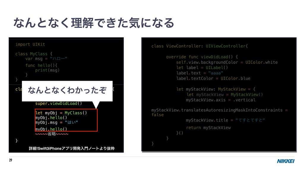 "29 import UIKit class MyClass { var msg = ""ϋϩʔ""..."