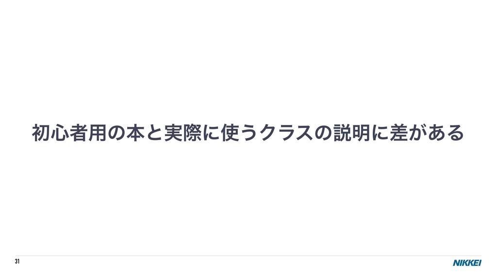 31 ॳ৺ऀ༻ͷຊͱ࣮ࡍʹ͏Ϋϥεͷઆ໌ʹ͕ࠩ͋Δ