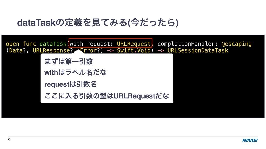 43 dataTaskͷఆٛΛݟͯΈΔ(ࠓͩͬͨΒ) open func dataTask(w...