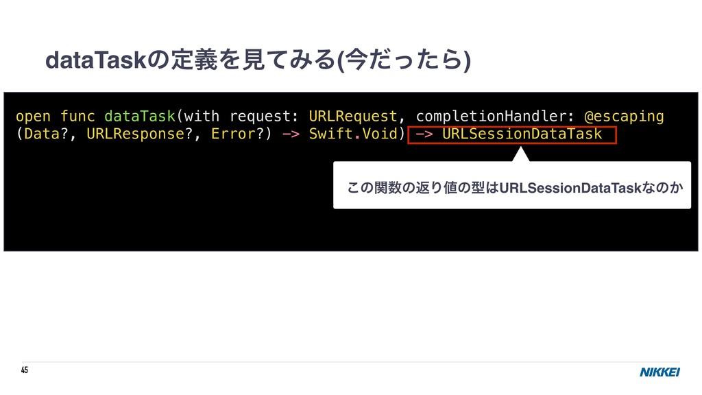 45 dataTaskͷఆٛΛݟͯΈΔ(ࠓͩͬͨΒ) open func dataTask(w...