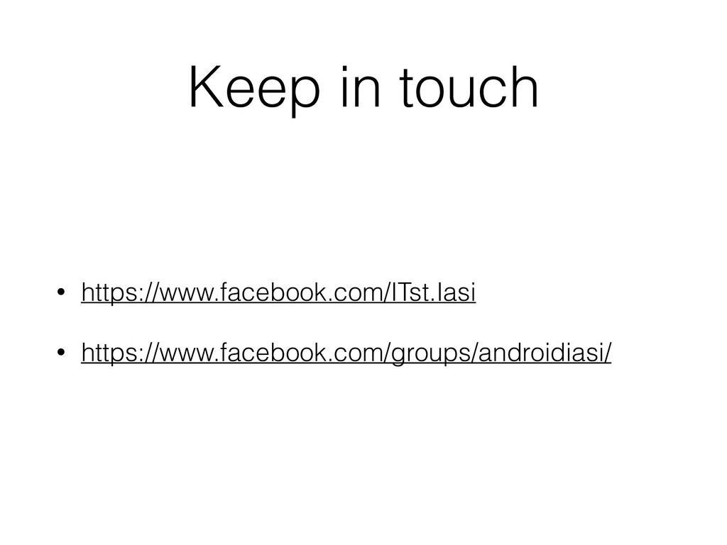 Keep in touch • https://www.facebook.com/ITst.I...