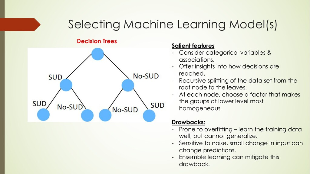 Selecting Machine Learning Model(s) Salient fea...