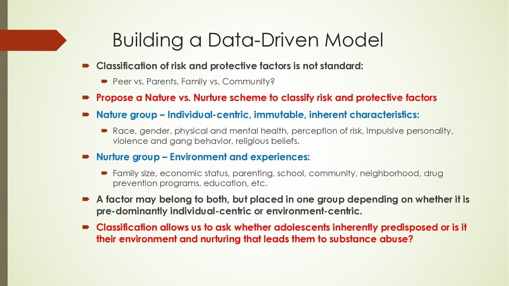 Building a Data-Driven Model ´ Classification o...