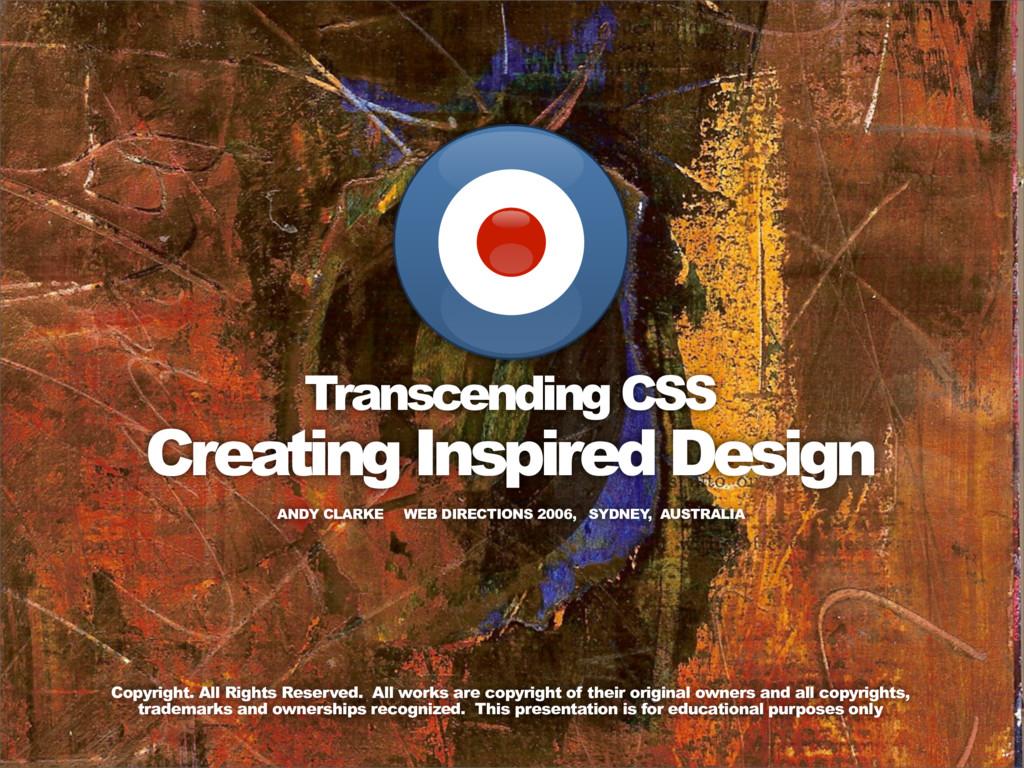 ANDY CLARKE WEB DIRECTIONS 2006, SYDNEY , AUSTR...