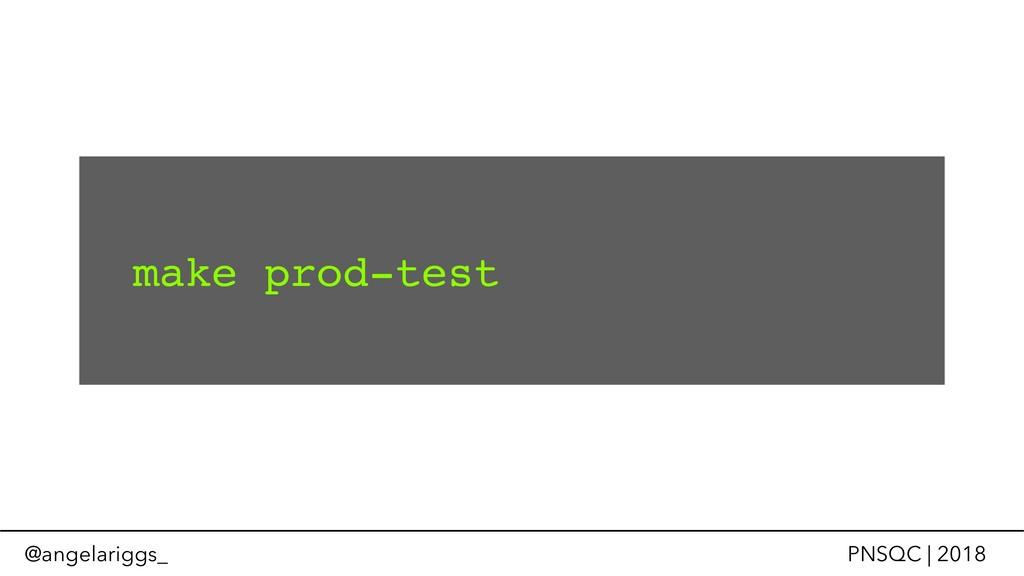 @angelariggs_ PNSQC | 2018 make prod-test