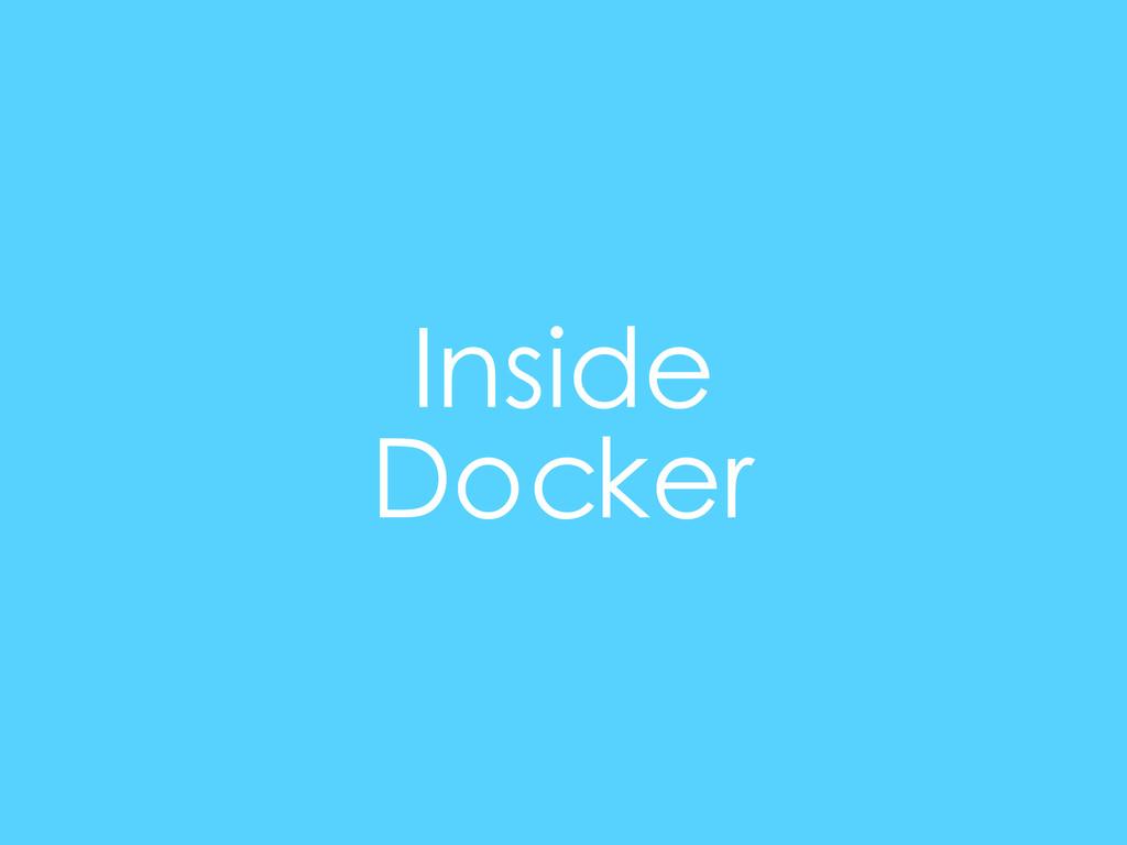 Inside Docker