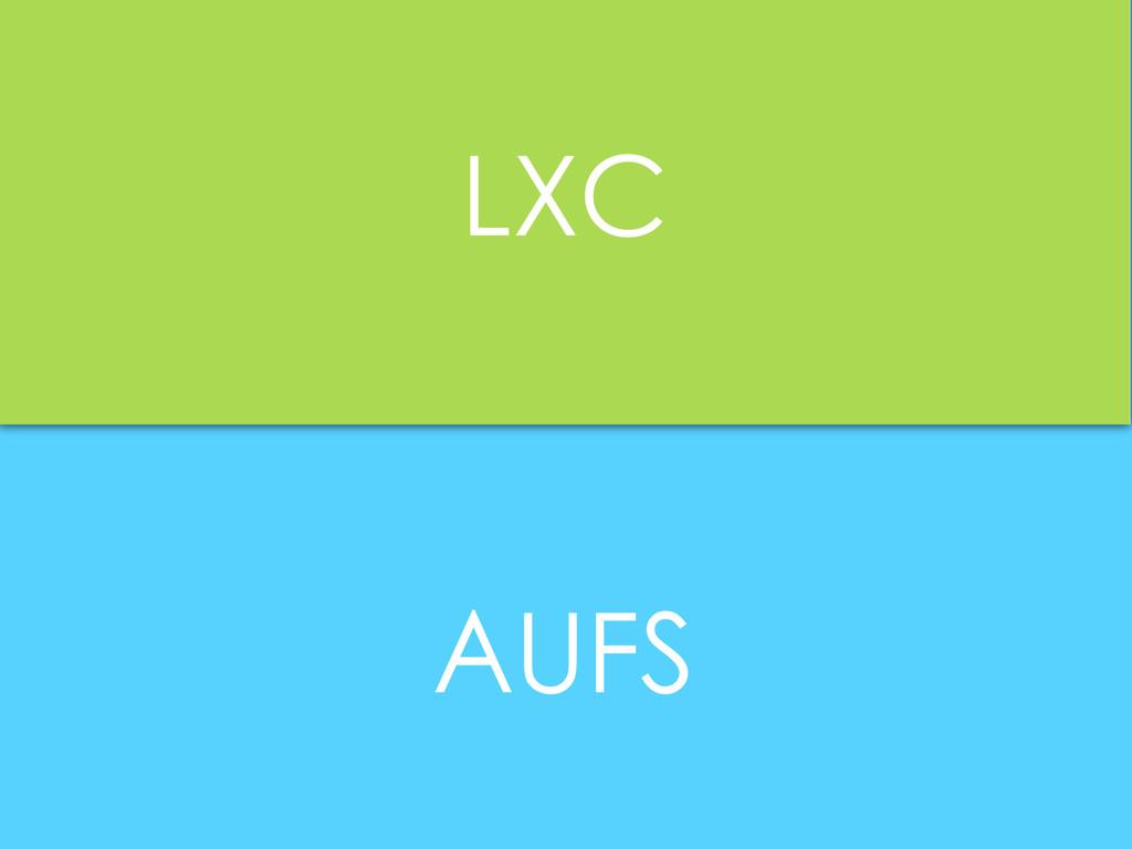 AUFS LXC