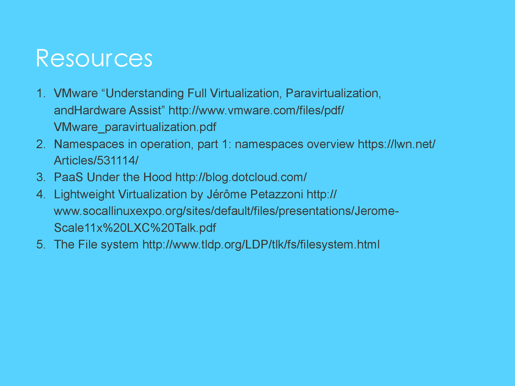 "Resources 1. VMware ""Understanding Full Virtual..."