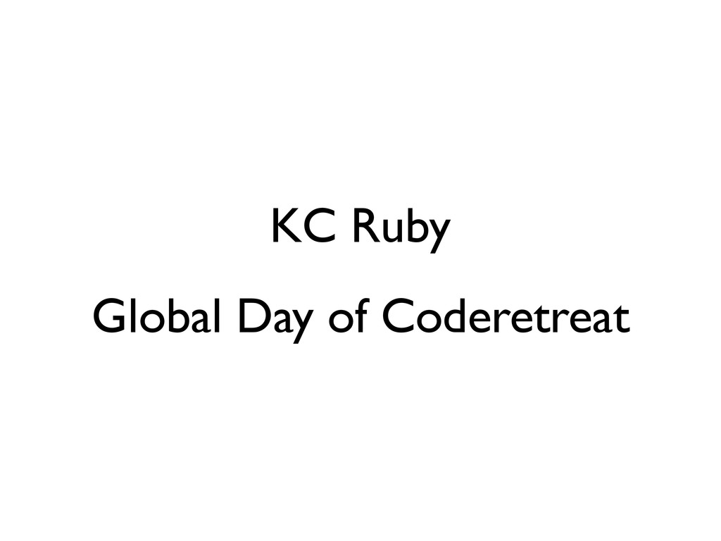KC Ruby Global Day of Coderetreat