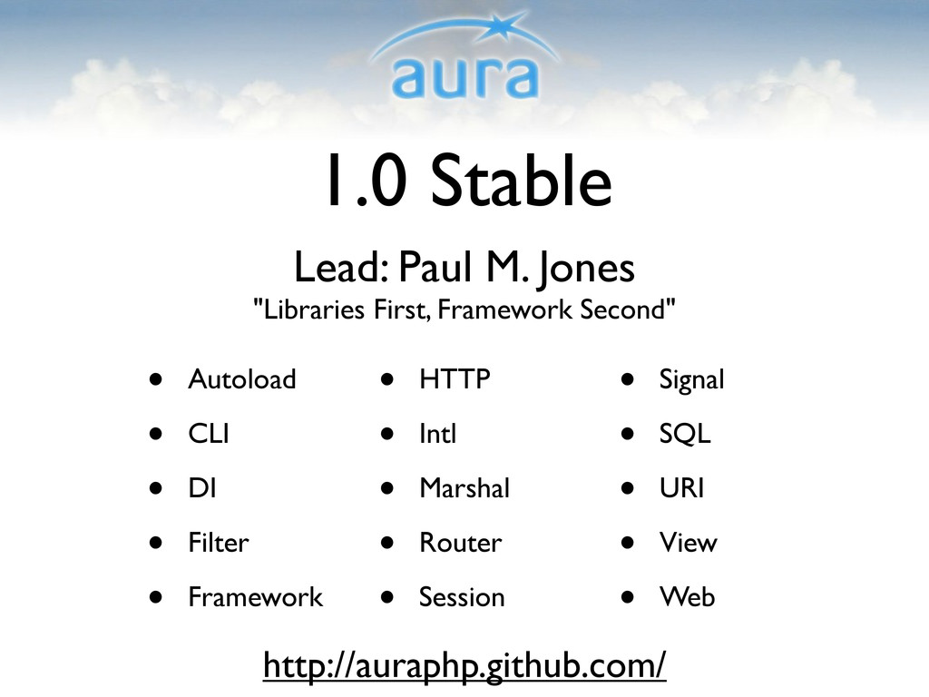 "1.0 Stable Lead: Paul M. Jones ""Libraries First..."