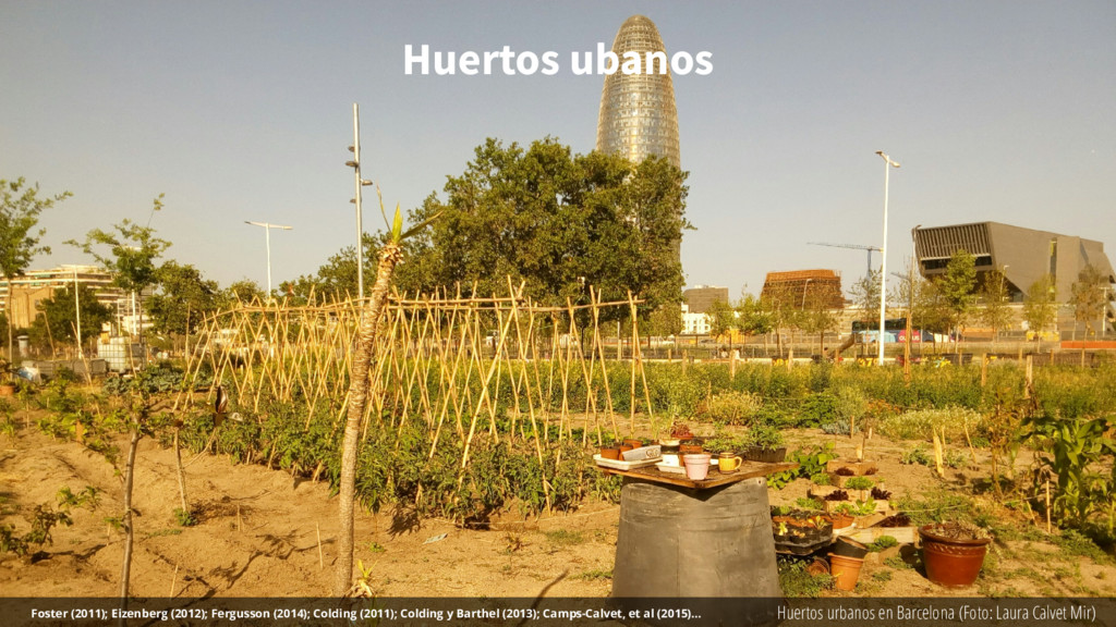 Huertos ubanos Huertos urbanos en Barcelona (Fo...