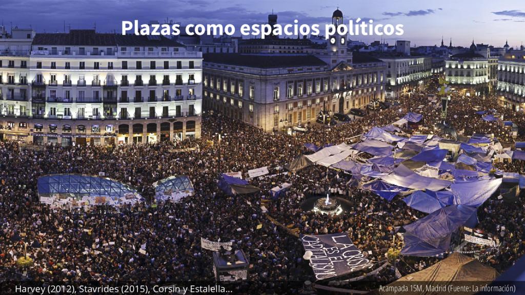 Plazas como espacios políticos Acampada 15M, Ma...