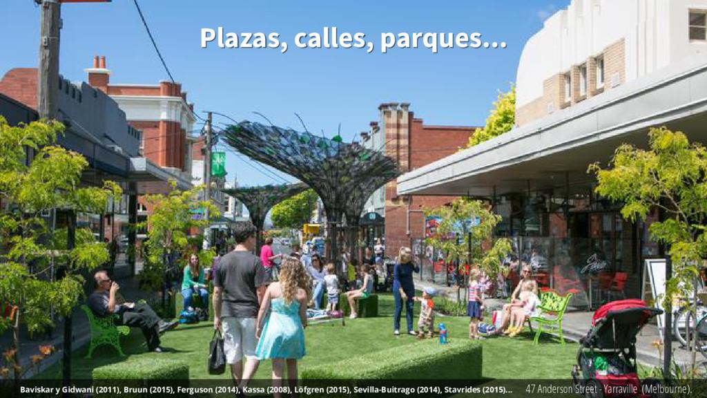 Plazas, calles, parques... Plazas, calles, parq...