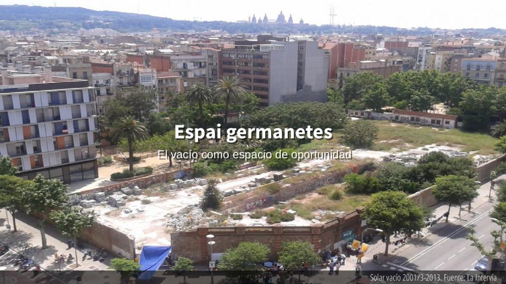 Solar vacío 2001/3-2013. Fuente: La Intervía Es...