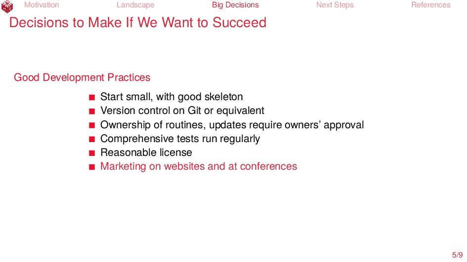 Motivation Landscape Big Decisions Next Steps R...