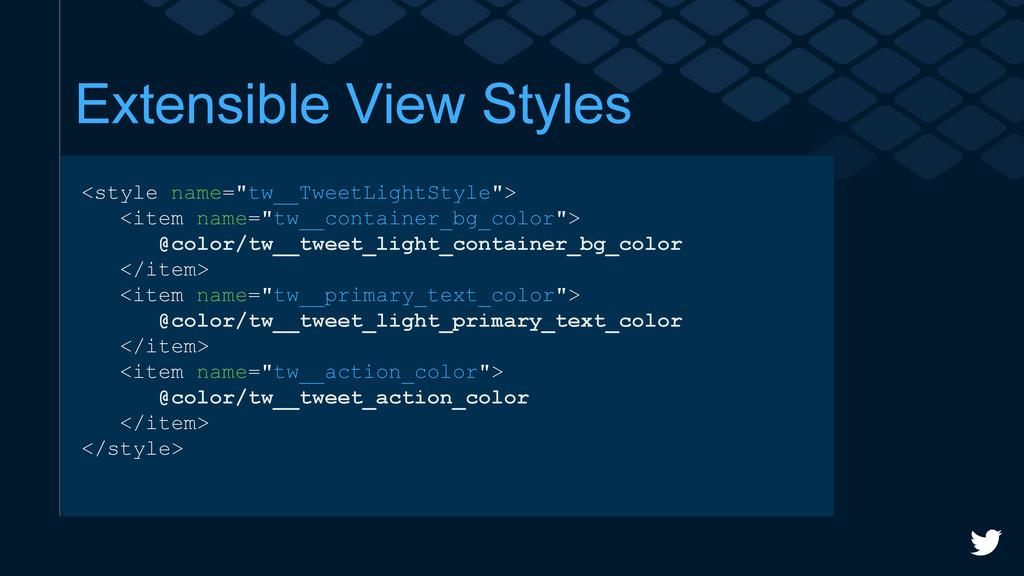"Extensible View Styles <style name=""tw__TweetLi..."