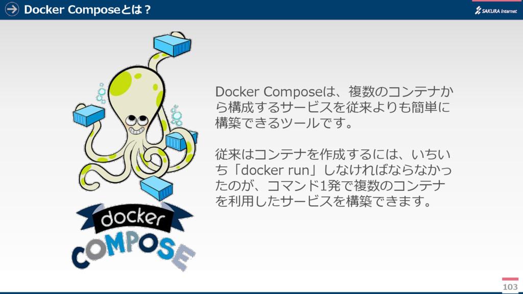 Docker Composeとは? 103 Docker Composeは、複数のコンテナか ...