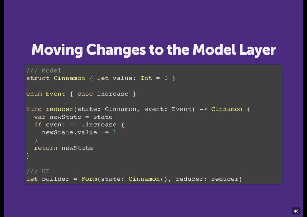 /// Model struct Cinnamon { let value: Int = 0 ...