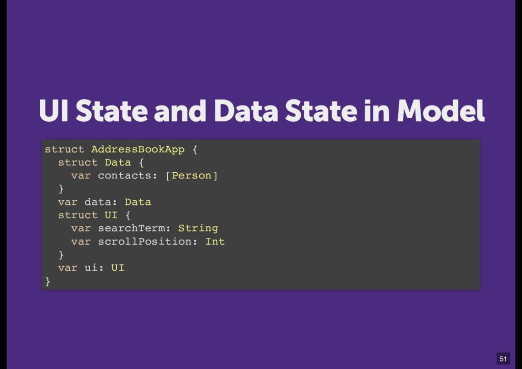 struct AddressBookApp { struct Data { var conta...
