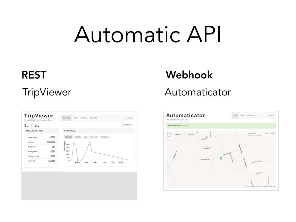 REST Webhook Automatic API TripViewer Automatic...