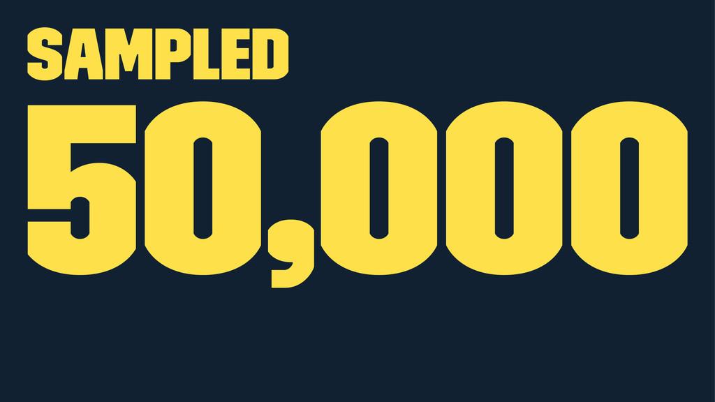Sampled 50,000