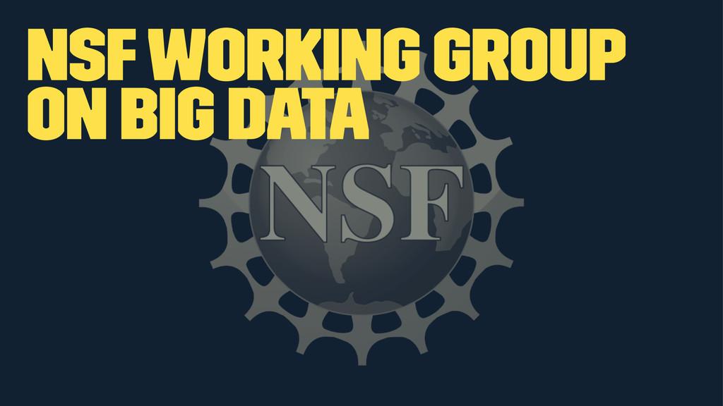 NSF Working Group on Big Data