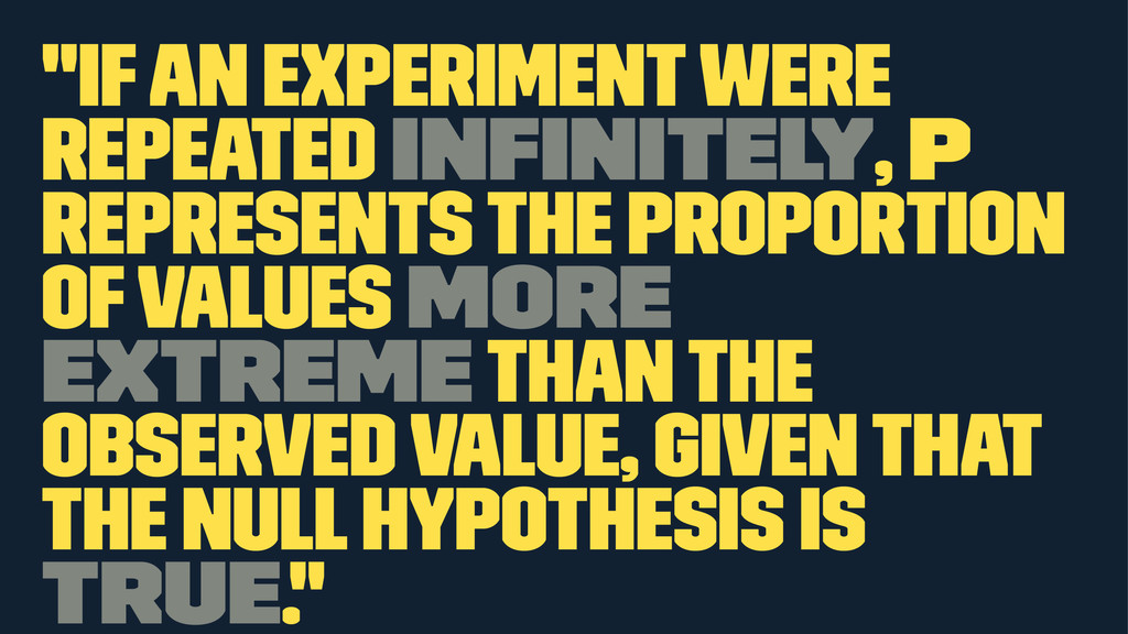 """""""If an experiment were repeated infinitely, p re..."""