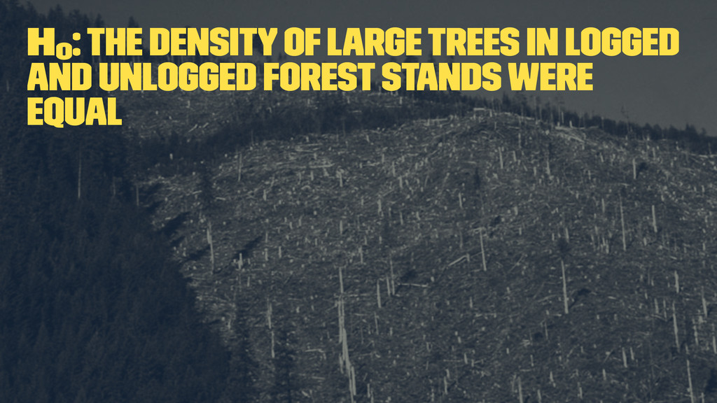 H0 : The density of large trees in logged and u...