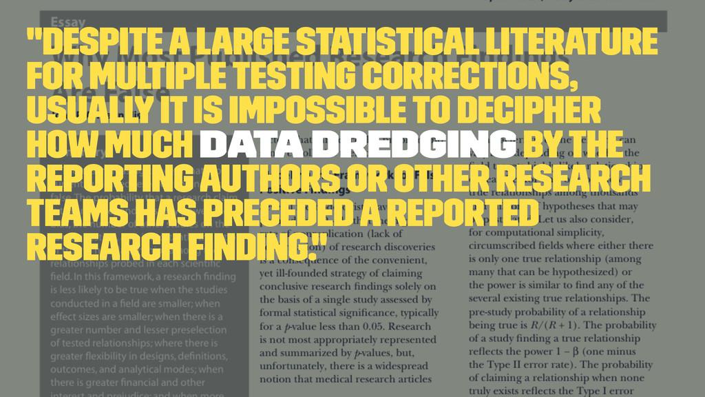 """Despite a large statistical literature for mul..."