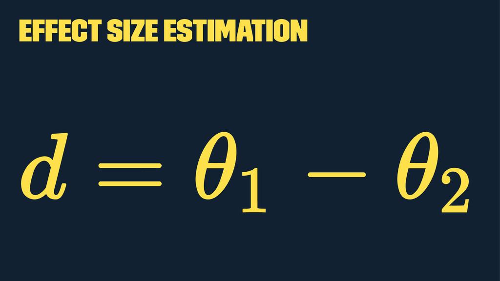 Effect size estimation