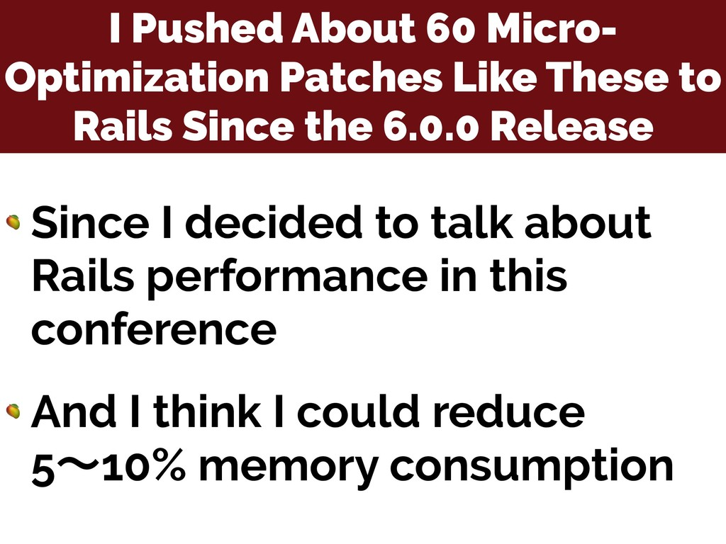 I Pushed About 60 Micro- Optimization Patches L...