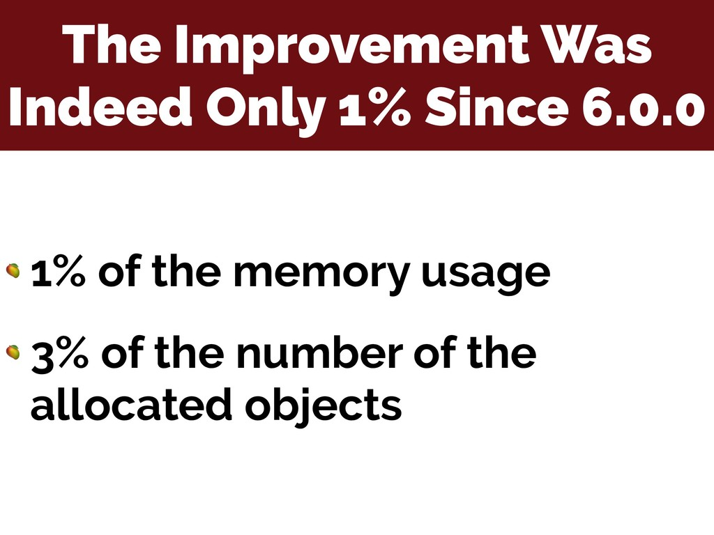 The Improvement Was Indeed Only 1% Since 6.0.0 ...