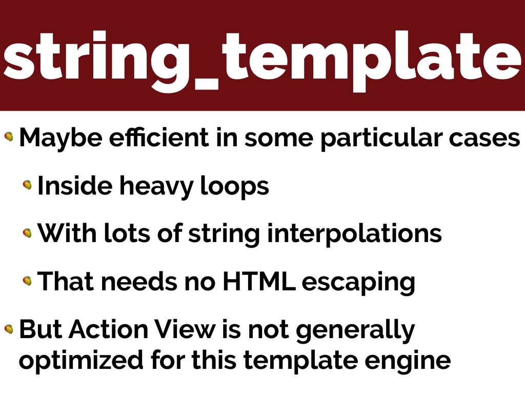string_template  Maybe efficient in some particul...