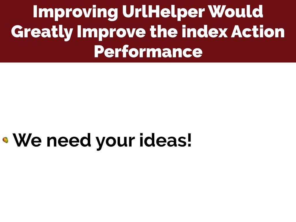 Improving UrlHelper Would Greatly Improve the i...