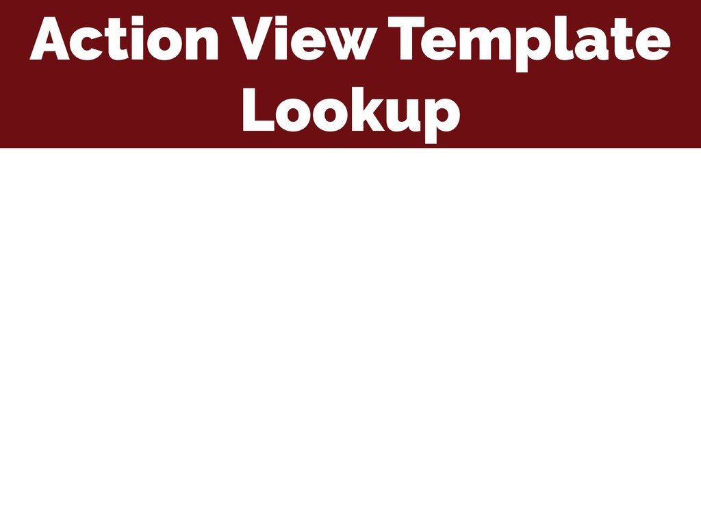Action View Template Lookup