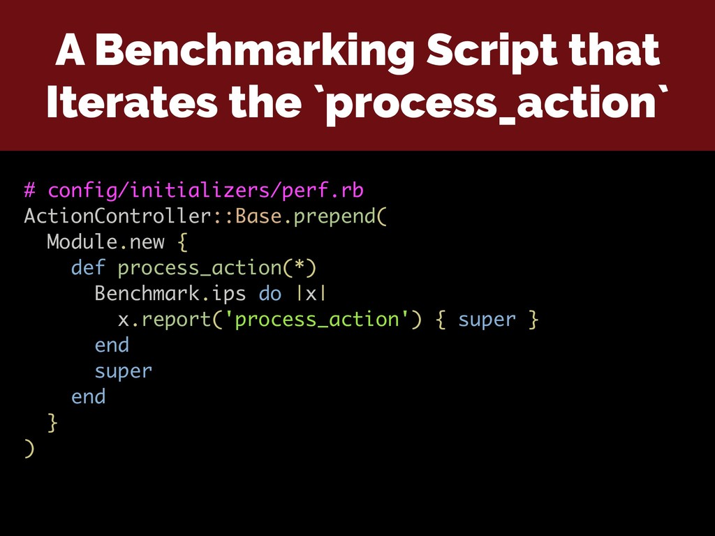 A Benchmarking Script that Iterates the `proces...
