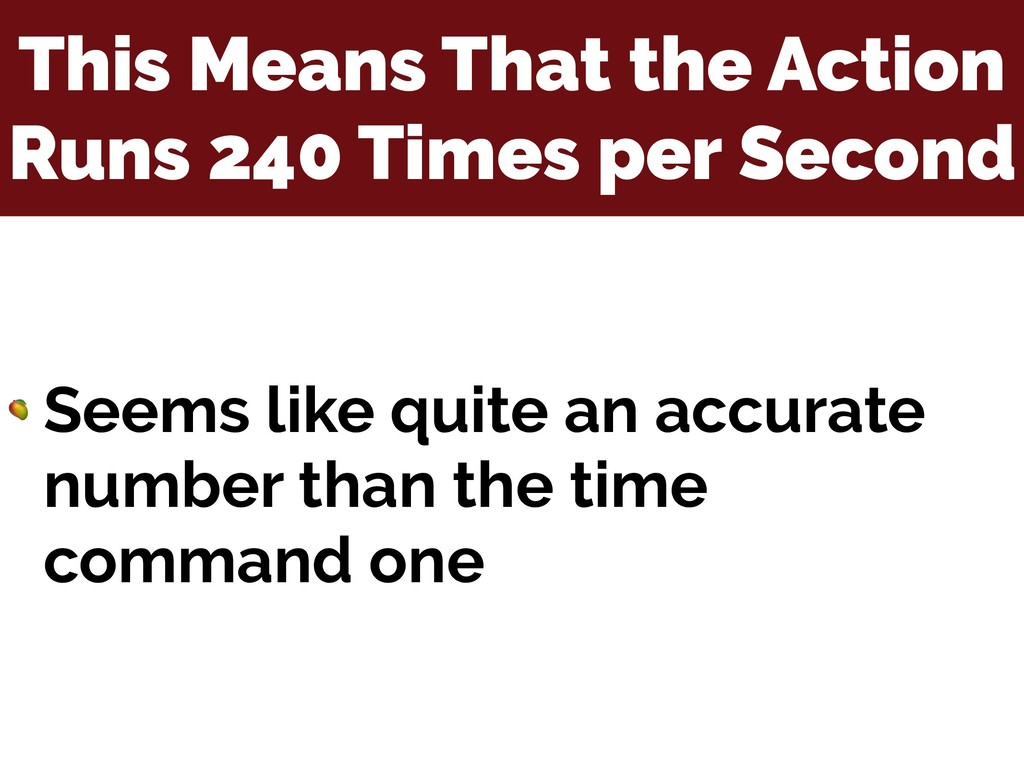 This Means That the Action Runs 240 Times per S...