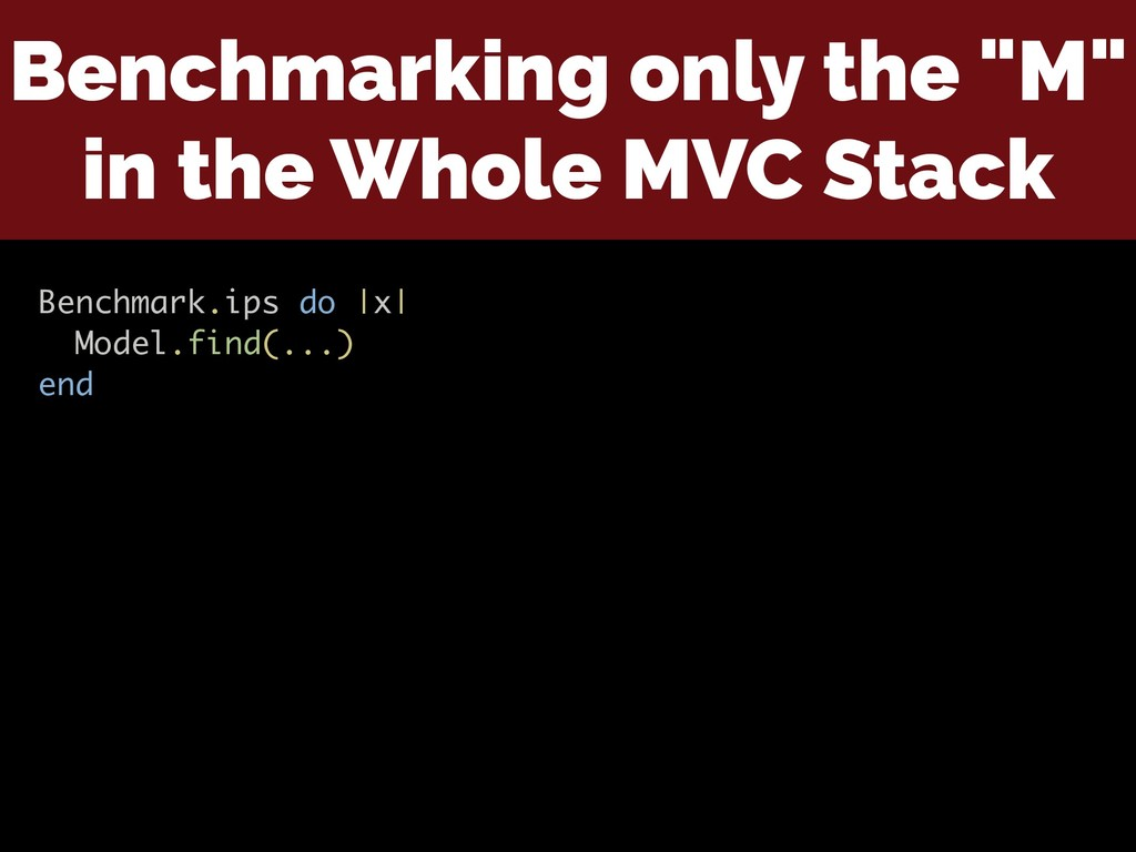 """Benchmarking only the """"M"""" in the Whole MVC Stac..."""