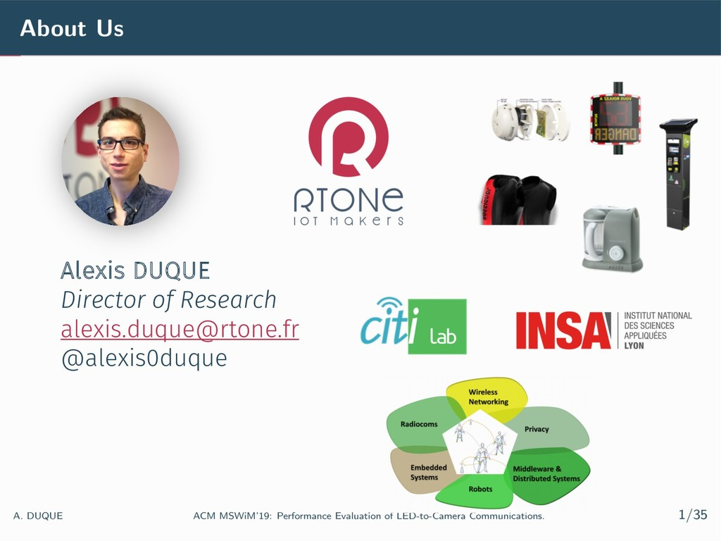 Alexis DUQUE Director of Research alexis.duque@...