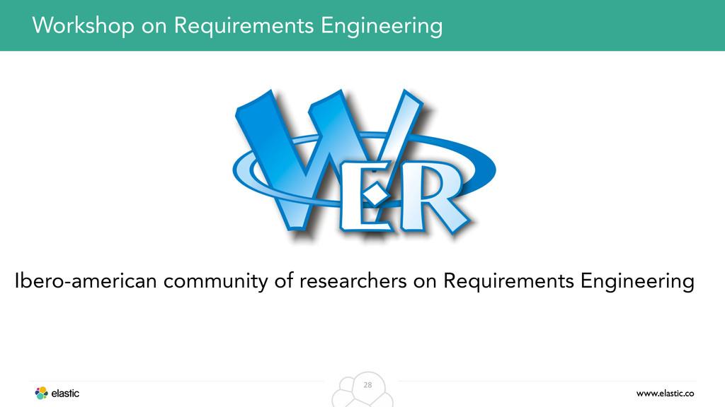 www.elastic.co 28 Workshop on Requirements Engi...