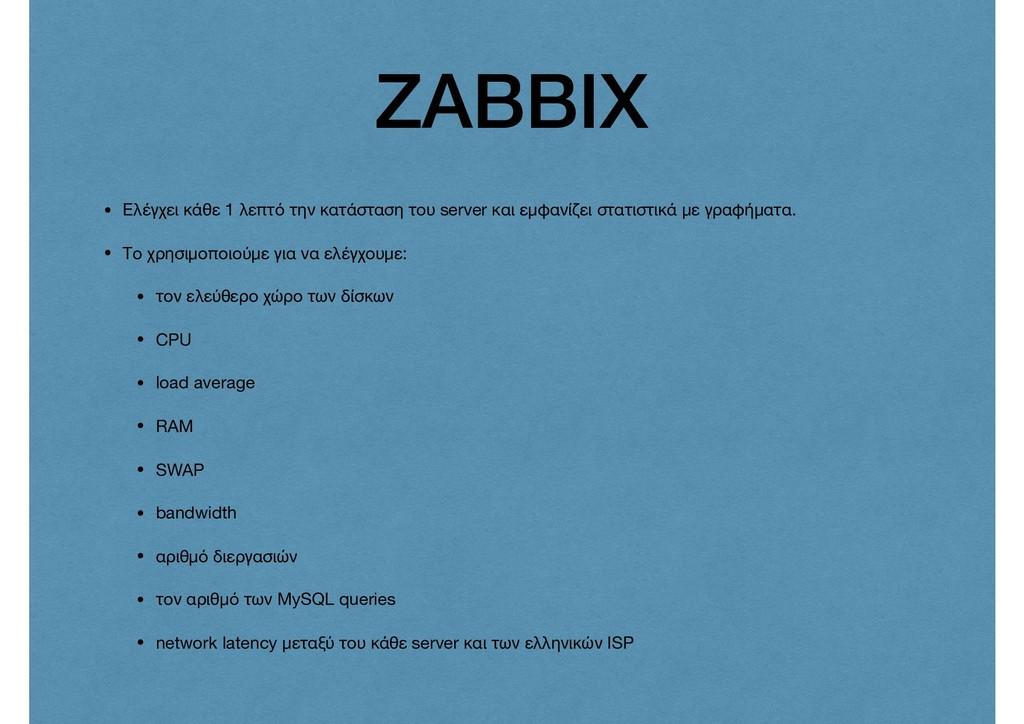 ZABBIX • Ελέγχει κάθε 1 λεπτό την κατάσταση του...
