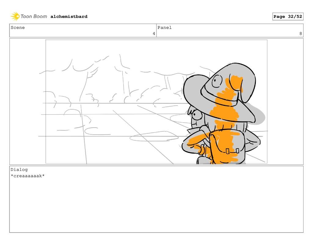 Scene 4 Panel 8 Dialog *creaaaaaak* alchemistba...