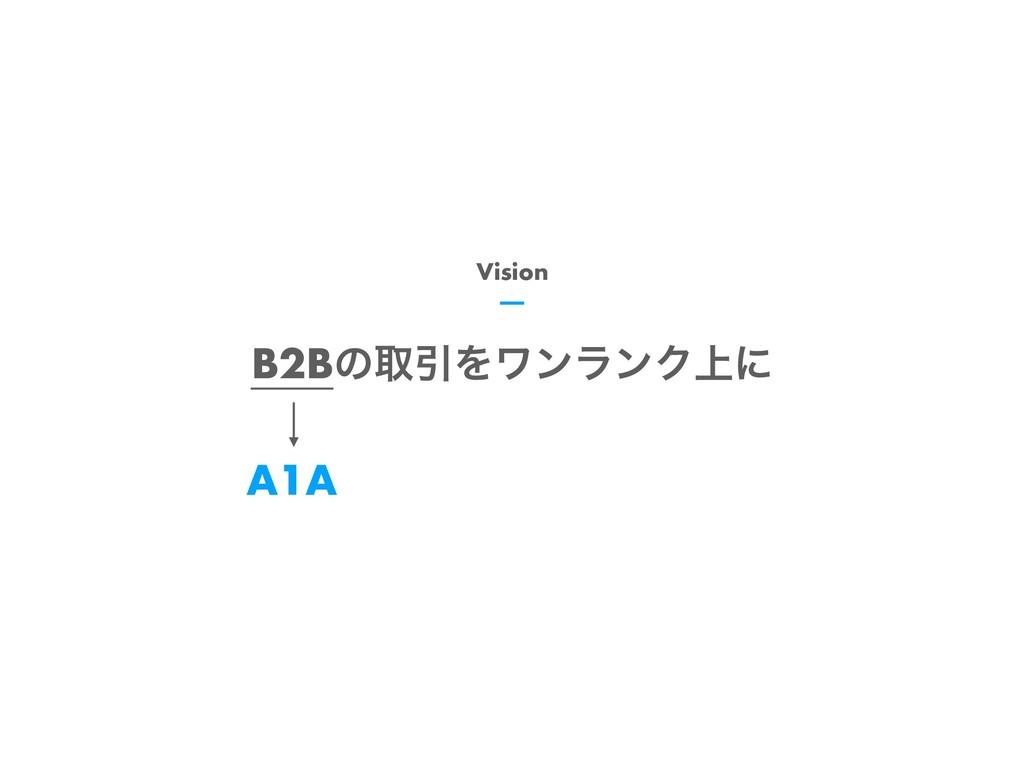 B2BͷऔҾΛϫϯϥϯΫ্ʹ Vision A1A