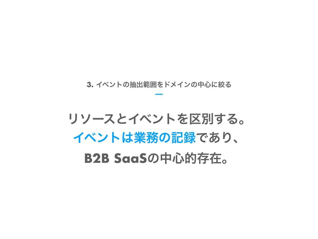 ϦιʔεͱΠϕϯτΛ۠ผ͢Δɻ ΠϕϯτۀͷهͰ͋Γɺ B2B SaaSͷத৺తଘࡏɻ ...
