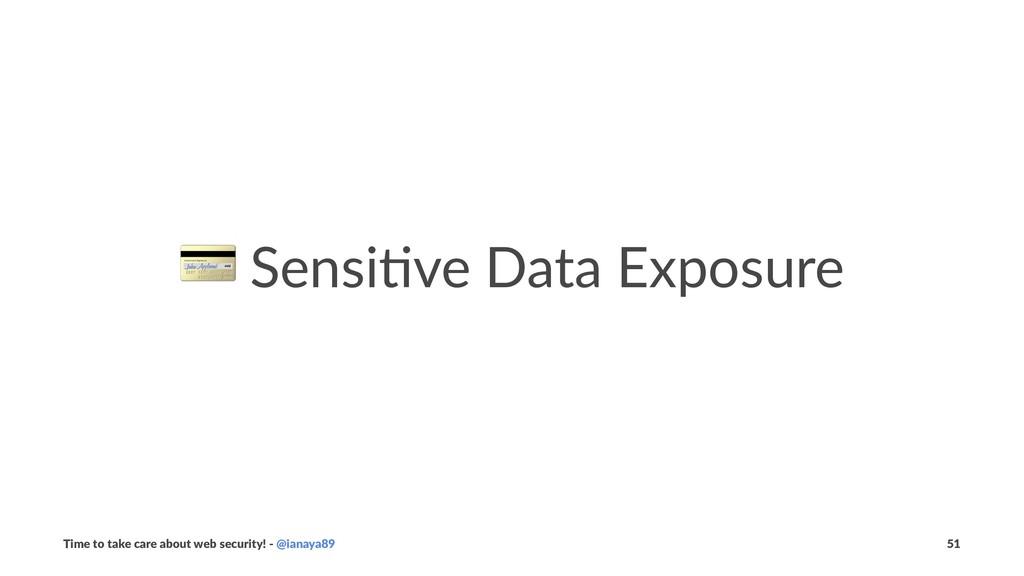 ! Sensi've Data Exposure Time to take care abou...