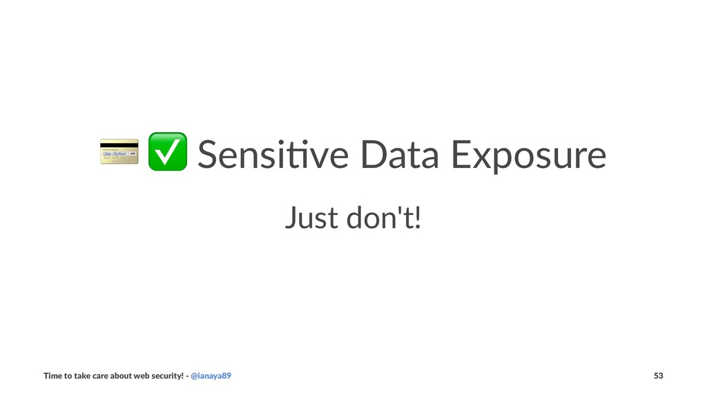 ! ✅ Sensi've Data Exposure Just don't! Time to ...