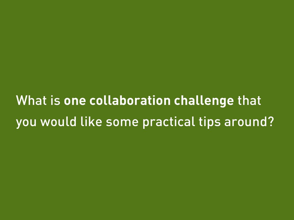 Tobias Fors | @tofo What is one collaboration c...